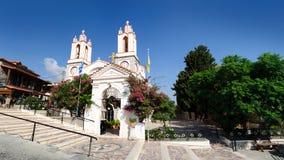 Kyrkan av St Panteleimon är en av de äldsta vördade ortodoxa kyrkorna i Rhodes arkivbild