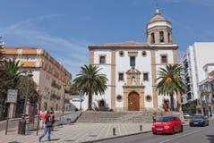 Kyrkan av tacksamhet (Iglesia de la Merceed) som konstrueras i 1585 Royaltyfri Bild
