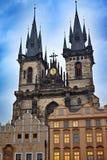 Kyrkan av vår dam lokaliseras i den gamla staden av Prague nära gammal stadfyrkant royaltyfri fotografi