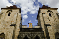 Kyrkan av vår dam under kedjan Fotografering för Bildbyråer