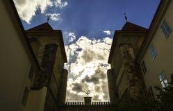 Kyrkan av vår dam under kedjan Arkivbild