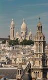 Kyrkan för Sacre Coeur basilika- och helgonTreenighet, Paris, Frankrike Royaltyfria Bilder