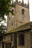 Kyrkan för St Christopher ` s är i den lilla byn av Pott Shrigley, Cheshire, England Royaltyfria Foton
