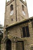 Kyrkan för St Christopher ` s är i den lilla byn av Pott Shrigley, Cheshire, England Arkivbild