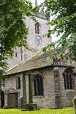 Kyrkan för St Christopher ` s är i den lilla byn av Pott Shrigley, Cheshire, England Royaltyfria Bilder