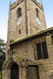 Kyrkan för St Christopher ` s är i den lilla byn av Pott Shrigley, Cheshire, England Arkivfoto
