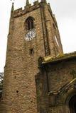 Kyrkan för St Christopher ` s är i den lilla byn av Pott Shrigley, Cheshire, England Fotografering för Bildbyråer