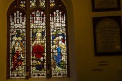 Kyrkan för St Christopher ` s är i den lilla byn av Pott Shrigley, Cheshire, England Arkivfoton