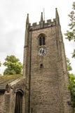 Kyrkan för St Christopher ` s är i den lilla byn av Pott Shrigley, Cheshire, England Arkivbilder