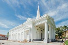 Kyrkan för St George ` s är kyrka för århundrade för th 19 en anglikansk i staden av George Town i Penang, Malaysia royaltyfria foton