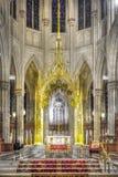Kyrkan för St Marias konstruerades på början av århundradet XIV (â 1250 1350), och utfört in utforma av en gotisk tegelsten utfor Arkivbilder
