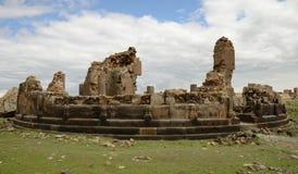 Kyrkan fördärvar i stad av anien, Turkiet Arkivbilder
