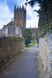 kyrkan går Royaltyfri Bild