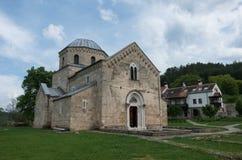 Kyrkan i den ortodoxa kloster Gradac i Serbien Gradac Mo Royaltyfri Bild