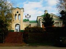 Kyrkan i den Siberian staden av Tomsk Fotografering för Bildbyråer