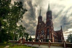 Kyrkan i gotiskt utformar Arkivbild