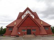 Kyrkan i Kiruna, Sverige Arkivbild