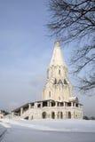 Kyrkan i Kolomenskoe parkerar Fotografering för Bildbyråer
