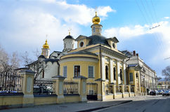 Kyrkan i namnet av den heliga martyren Antipas, biskop av Pergamum i Kolymazhny Dvor, Moskva Royaltyfria Bilder