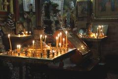 Kyrkan i nytt års dagar Royaltyfria Foton
