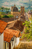 Kyrkan i stad av Barichara, Colombia Royaltyfri Fotografi