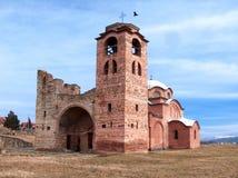 Kyrkan - kloster av St Nicholas i den Kursumlija staden royaltyfria foton
