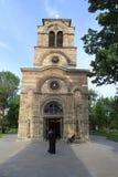 Kyrkan Lazarica från århundrade för th 14 royaltyfri foto