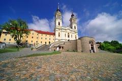 Kyrkan Maria Radna som invigas i heder av den välsignade jungfruliga Maryen, Radna, Arad Arkivbilder