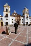 Kyrkan på det huvudsakliga stället av Ronda Royaltyfria Foton
