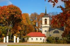 Kyrkan på ingången till Museum-reserven ÄR Turgenev Royaltyfria Bilder