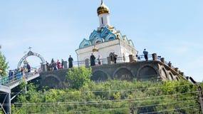 Kyrkan på kullen. Royaltyfria Bilder