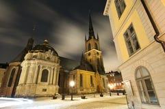kyrkan riddarholmen Arkivbild