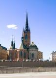kyrkan riddarholmen stockholm sweden Royaltyfri Fotografi