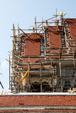 Kyrkan taklägger belägger med tegel Arkivfoton