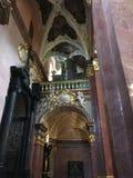 Kyrkaorgan i den Czestochowa domkyrkan i Polen royaltyfri fotografi