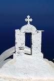 kyrklig ö för korsgreece ios Royaltyfria Bilder