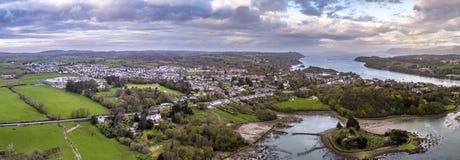 Kyrklig ö på Anglesey - Wales - Förenade kungariket Arkivbild