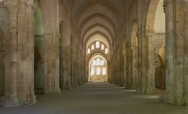Kyrklig abbotskloster i Fontenay Frankrike fotografering för bildbyråer