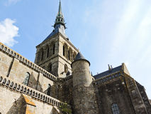 Kyrklig abbotsklostermont helgon-michel i Normandie Arkivbilder