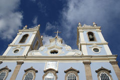 Kyrklig arkitektur Pelourinho Salvador Brazil arkivbilder