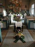kyrklig begravning royaltyfria bilder