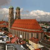 kyrklig berömd frauenkirche munich Arkivbilder