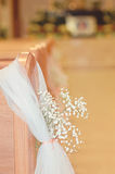 Kyrklig bröllopdetalj Arkivfoton