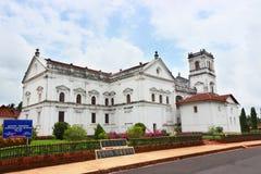 Kyrklig byggnad för gammal Goa domkyrka Arkivbilder