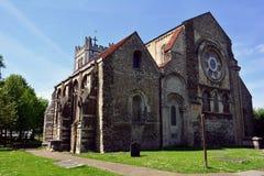 Kyrklig byggnad för gammal historisk Waltham abbotskloster, England, UK Arkivfoton