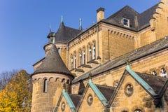 Kyrklig byggnad i den historiska mitten av Goslar Royaltyfria Bilder