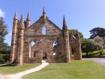 Kyrklig byggnad på port Arthur Hobart Tasmania Arkivfoton