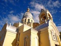 kyrklig crimea feodosia ortodoxa ukraine Royaltyfri Bild