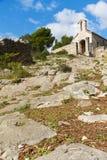 kyrklig croatia hvar liten sten Royaltyfria Bilder