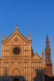kyrklig croce florence italy santa för basilica Arkivbild